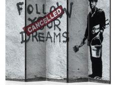 Paraván - Dreams Cancelled (Banksy) II [Room Dividers]